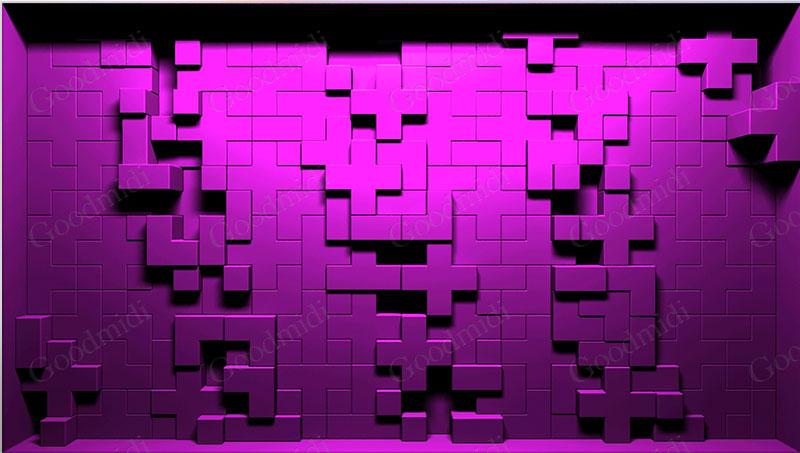 Resolume官方高清素材系列之:DISPLACE Mapping墙体映射素材
