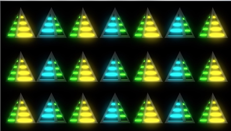 金字塔灯LED循环素材